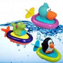 Lovable Pull & Go Boat Bath Toy